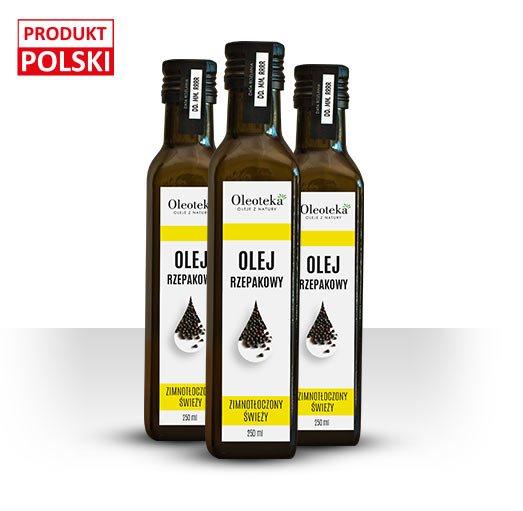 olej rzepakowy zimnotłoczony